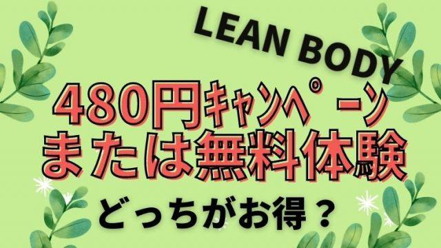 リーンボディ480円